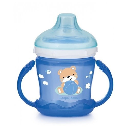 Фото - Поильник-непроливайка Canpol Babies 57/300, 180 мл синий поильник непроливайка canpol babies 56 512 320 мл бирюзовый