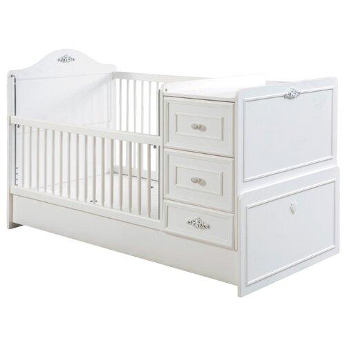 Купить Кроватка Cilek Romantic St трансформер (75x160 Cm) белый, Кроватки