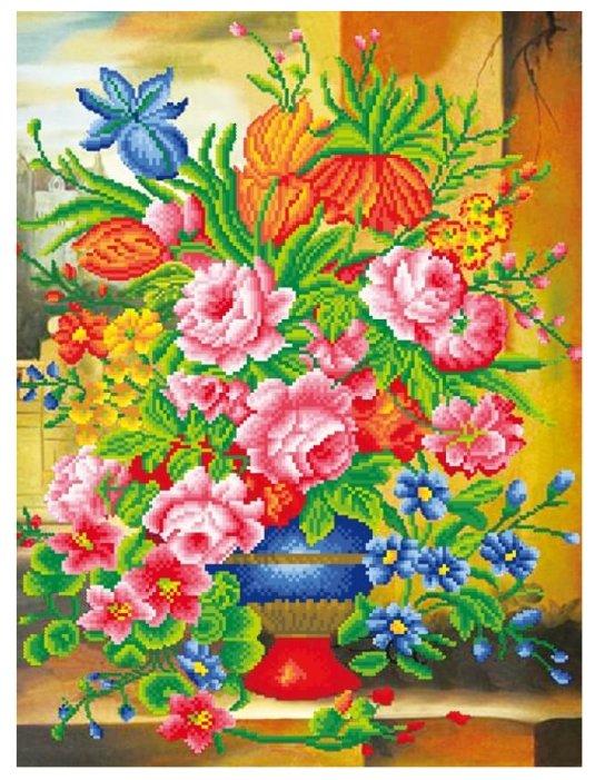 Цветной Набор алмазной вышивки Прекрасные цветы (LMC001) 50x65 см