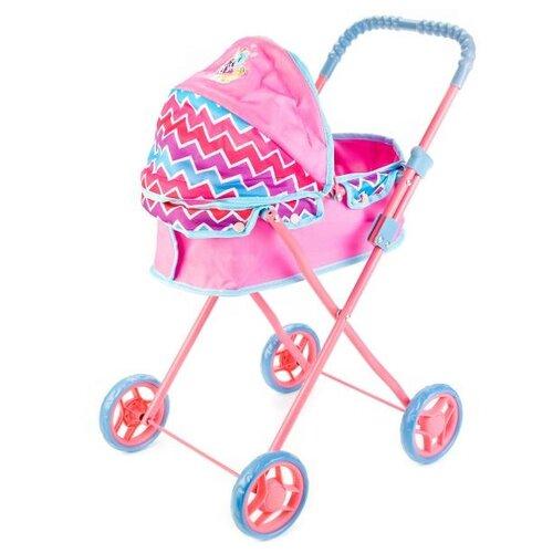 Купить Коляска-люлька Карапуз 63CA-MLP розово-голубой, Коляски для кукол