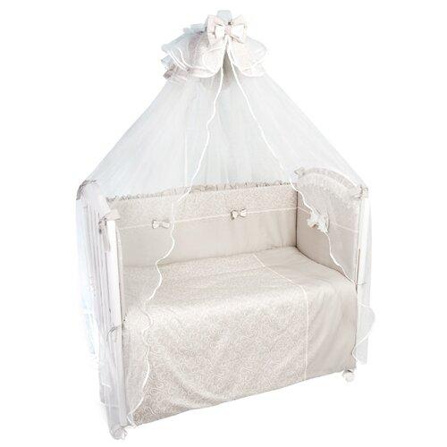 Купить Сонный Гномик комплект Версаль (7 предметов) дымчато-бежевый, Постельное белье и комплекты