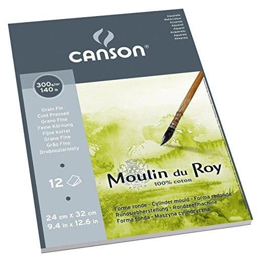 Альбом для акварели Canson Moulin du Roy 32 х 24 см, 300 г/м², 12 л.
