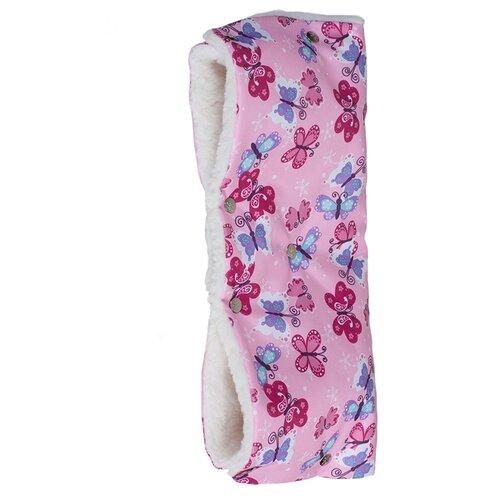 Купить Чудо-Чадо Муфта для рук меховая Комфорт бабочки, Аксессуары для колясок и автокресел