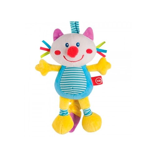 Купить Подвесная игрушка Happy Baby Кот (330360) голубой/желтый, Подвески