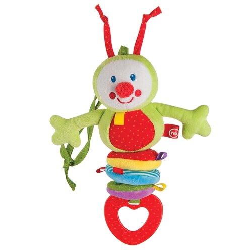 Купить Подвесная игрушка Happy Baby Гусеница (330344) зеленый/красный/голубой, Подвески
