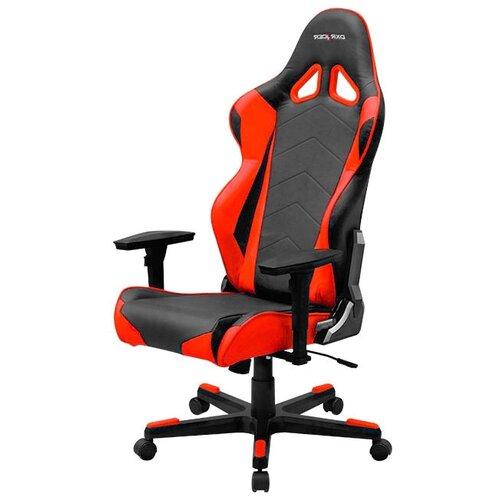 Компьютерное кресло DXRacer Racing OH/RE0 игровое, обивка: искусственная кожа, цвет: черный/красный кресло игровое dxracer dxracer drifting oh dj133 n