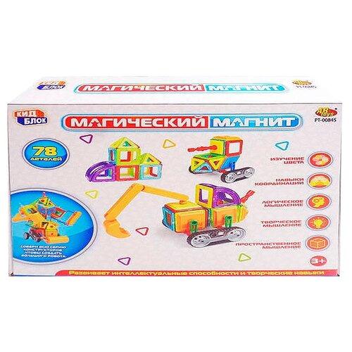 Магнитный конструктор ABtoys Магический магнит PT-00845 магнитный конструктор abtoys магический магнит с магнитом внутри 32 детали pt 00863