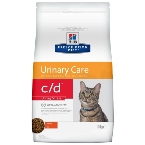 Корм для кошек Hill's (1.5 кг) Prescription Diet C/D Feline Urinary Stress Chicken dry