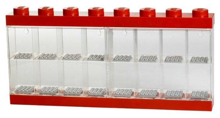 Пластиковый кейс LEGO 4066_red Пластиковый кейс для 16 минифигур, красный