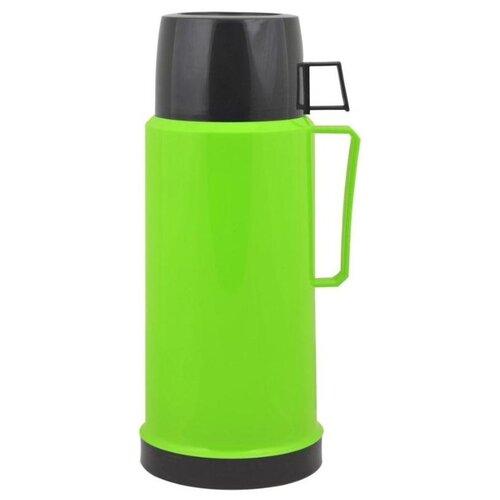 Классический термос Mallony 2644H, 1 л черный/зеленый