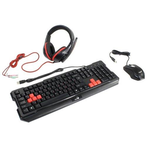 цена на Клавиатура и мышь Genius KMH-200 Black USB
