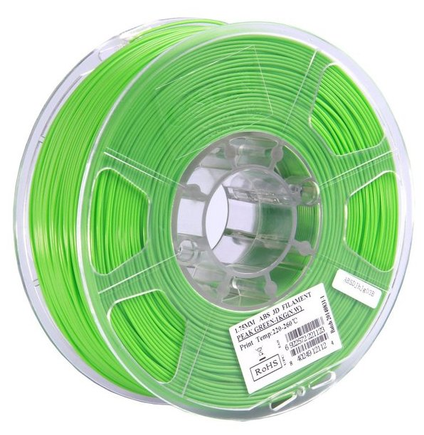 ABS пруток ESUN 1.75 мм салатовый (peak green)