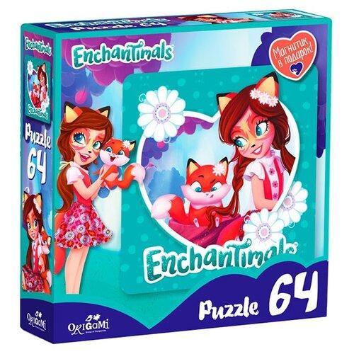 Фото - Пазл Origami Enchantimals Фелисити Лис и Флик (03554), 64 дет. пазл оригами энчантималс 64эл магнитик фелисити лис и флик 22х22см 03554