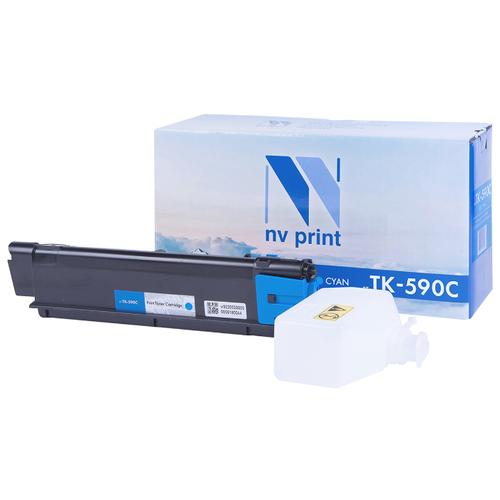 Фото - Картридж NV Print TK-590 Cyan для Kyocera, совместимый картридж nv print tk 8335 cyan для kyocera совместимый