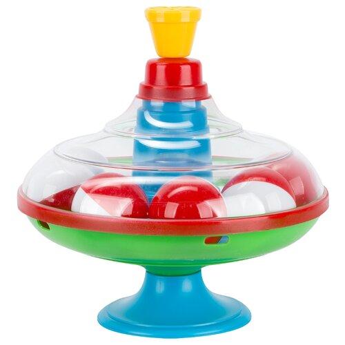 Юла-карусель Stellar большая с шариками (01320) голубой/зеленый/красный игрушка chuc юла