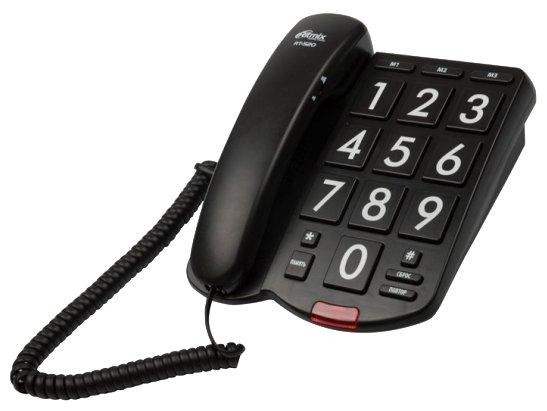 Телефон проводной Ritmix RT-520 black