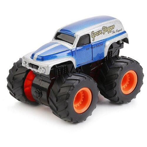 Купить Монстр-трак ТЕХНОПАРК Road Racing Джип (1570115-R) 9 см синий/серебристый, Машинки и техника