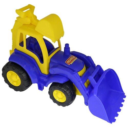 Фото - Трактор Полесье Чемпион с лопатой и ковшом (0513) 49 см трактор полесье алтай с прицепом 2 и ковшом 35363 66 см