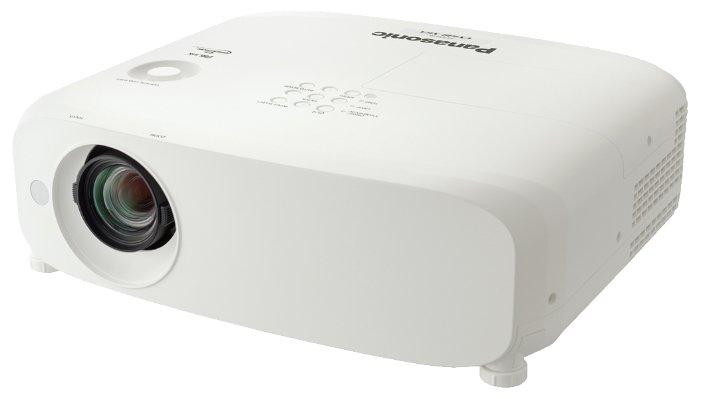 Panasonic PT-VX610E Мультимедийный LCD проектор, 5500 люмен, 1024x768, 4:3, 10000:1, 5000 ч, пр.отн. 1.2, зум 1.6, 4.8 кг., 37 дБ, Моно 10 Вт., верт.35 гр, гор.35 гр, HDMI, VGA, RCA, MiniJack, RCAx2, USB-B, RS232, Белый