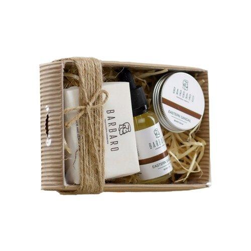 Barbaro Набор: Масло для бороды Eastern Sandal, Бальзам для бороды Eastern Sandal, Мыло для лица и бороды Eastern Sandal