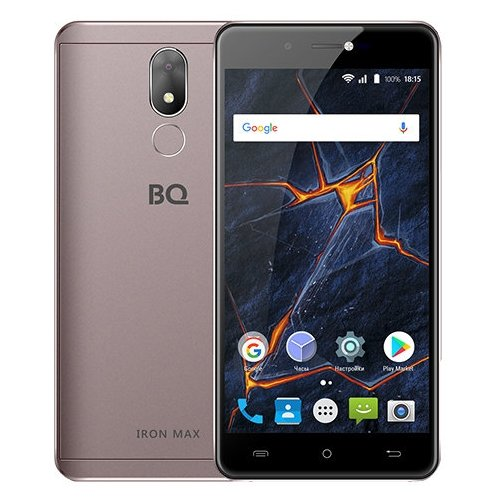 Смартфон BQ 5507L Iron Max кофейный смартфон