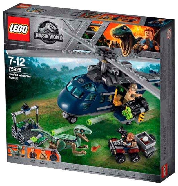 Конструктор LEGO Jurassic World 75928 Погоня за Блю на вертолёте