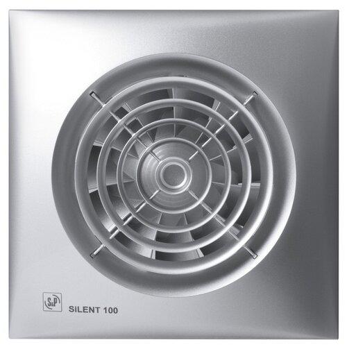 Вытяжной вентилятор Soler & Palau SILENT-100 CRZ, silver 8 Вт вытяжной вентилятор soler