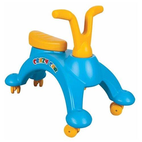 Купить Каталка-толокар pilsan Crazy Car (07816) голубой/желтый, Каталки и качалки
