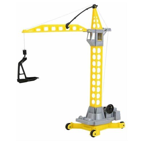 Купить Подъемный кран Wader Агат малый (56429) в пакете 48 см желтый/серый, Машинки и техника