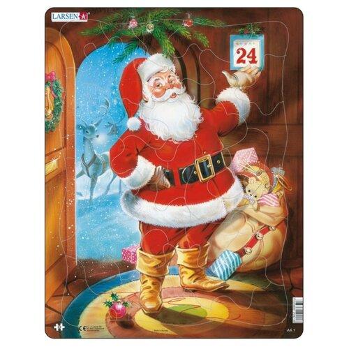 Купить Рамка-вкладыш Larsen Санта Клаус (JUL1), 33 дет., Пазлы