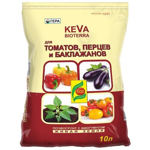 Почвогрунт Гера Keva Bioterra для томатов и перцев 10 л. почвогрунт богатырь для томатов перца и баклажанов 10л