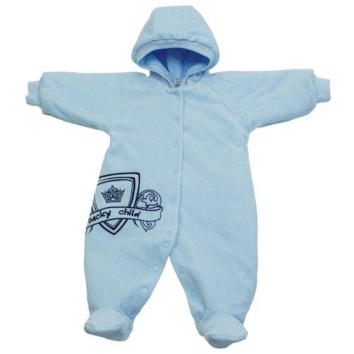 Комбинезон lucky child размер 22 (68-74), голубой боди lucky child размер 22 68 74 голубой