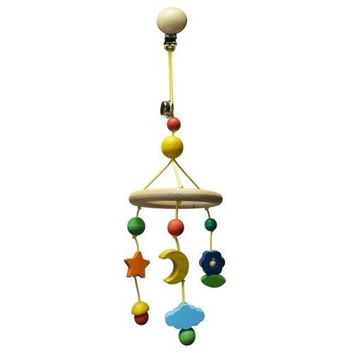 Купить Подвесная игрушка S-Mala Небесная карусель (1019) бежевый/желтый/голубой, Подвески