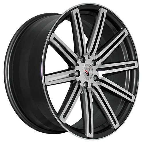 Колесный диск Vissol V-004 10.5x20/5x112 D66.6 ET42 Matte Graphite Machined
