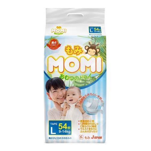 Купить Momi подгузники L (9-14 кг.) 54 шт., Подгузники