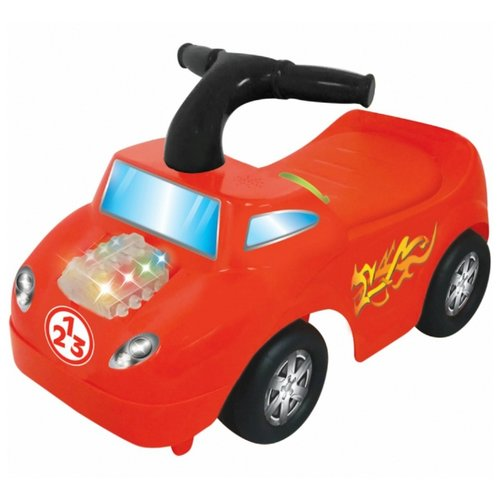 Купить Каталка-толокар Kiddieland Маленький гонщик (054163) со звуковыми эффектами красный, Каталки и качалки