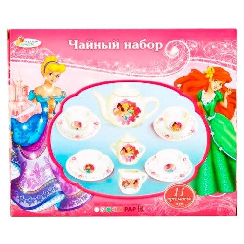 Купить Набор посуды Играем вместе Принцессы CH0034-R2 розовый/белый, Игрушечная еда и посуда