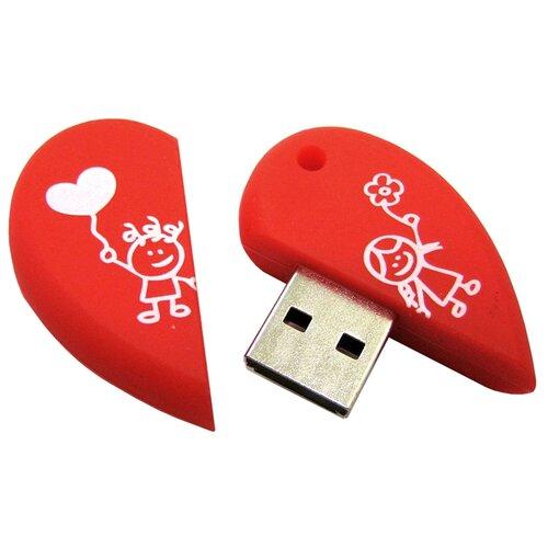 Фото - Флешка SmartBuy Wild Series Heart 16GB красный clg 621 a