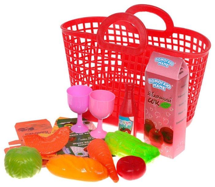 Набор продуктов с посудой ABtoys Помогаю маме PT-00335 фото 1