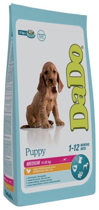 Корм для собак DaDo Для щенков средних пород с курицей и рисом