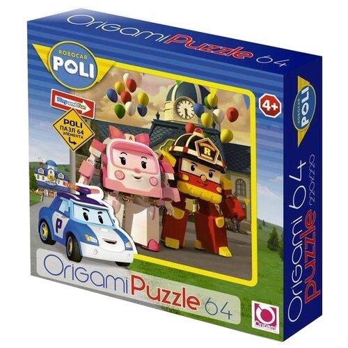 Купить Пазл Origami Robocar Poli Эмбер и Рой (05902), 64 дет., Пазлы