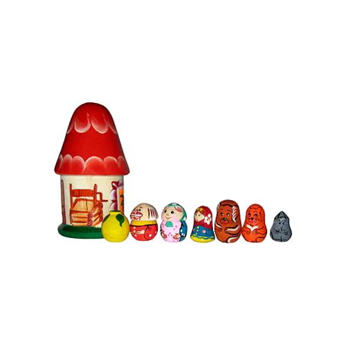 Русская народная игрушка Пальчиковый театр в домике Репка (Р-45/777)