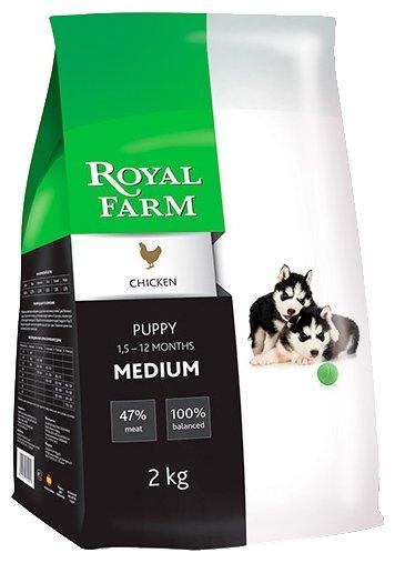 Корм для собак Royal Farm Сухой корм для собак Puppy Medium Chicken