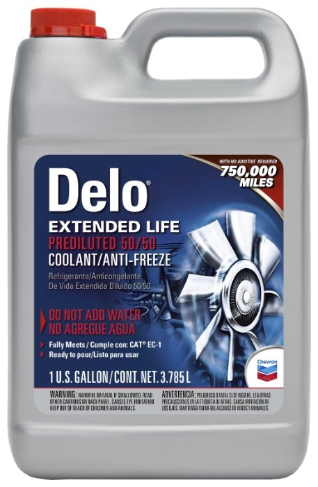 Антифриз CHEVRON Delo Extended Life Coolant/Antifreeze Prediluted 50/50