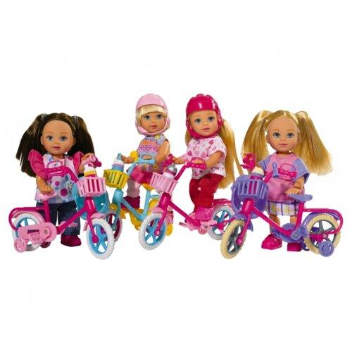 Купить Кукла Simba Ева на горном велосипеде, 12 см, 5731715, в ассортименте, Куклы и пупсы
