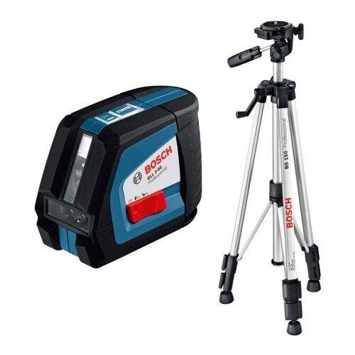 Лазерный уровень самовыравнивающийся BOSCH GLL 2-50 C Professional + BS 150 (0601063105) со штативом уровень bosch gll 3 80c 15м 0601063r00