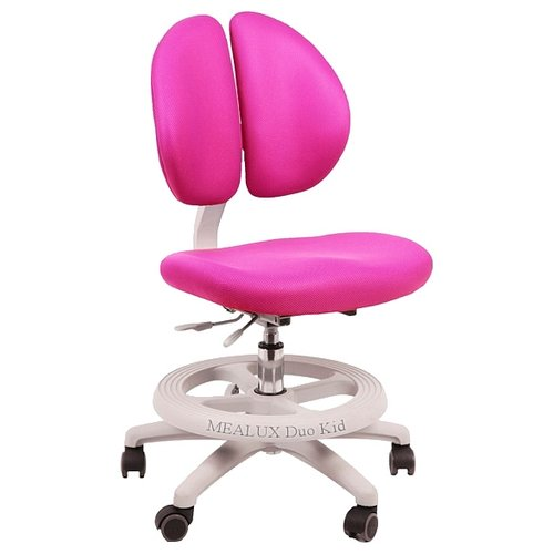 Компьютерное кресло MEALUX Duo-Kid детское, обивка: текстиль, цвет: розовый компьютерное кресло rifforma comfort 32 с чехлом детское обивка текстиль цвет розовый