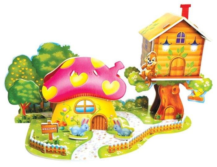 3D-пазл Zilipoo 3D Грибной дом (689-L), 26 дет.
