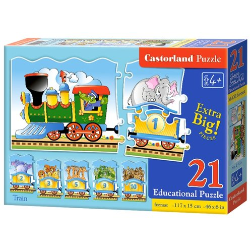 Купить Пазл Castorland Train (E-135), 21 дет., Пазлы