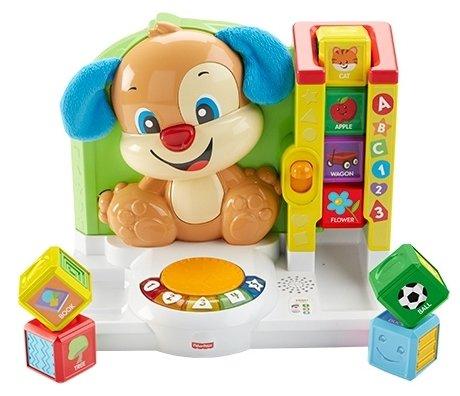 Интерактивная развивающая игрушка Fisher-Price Смейся и учись. Игровая станция Ученого щенка
